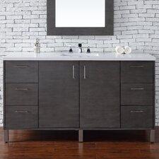Metropolitan 60 Single Silver Oak Bathroom Vanity Set by James Martin Furniture