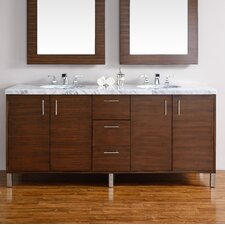 Metropolitan 72 Double American Walnut Bathroom Vanity Set by James Martin Furniture