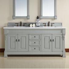 Brookfield 72 Double Urban Gray Bathroom Vanity Set by James Martin Furniture