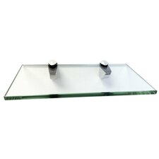 Momento Glass Shelf Kit with Chrome Brackets by Fab Glass and Mirror