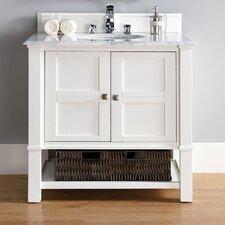 Madison 36 Single Cottage White Bathroom Vanity Set by James Martin Furniture