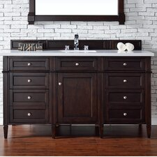 Brittany 60 Single Burnished Mahogany Bathroom Vanity Set by James Martin Furniture