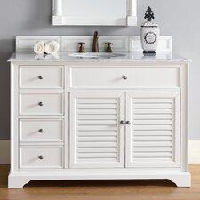 Savannah 48 Single Cottage White Bathroom Vanity Set by James Martin Furniture