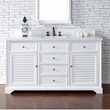 Savannah 60 Single Cottage White Bathroom Vanity Set by James Martin Furniture