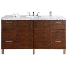 Metropolitan 60 Single American Walnut Bathroom Vanity Set by James Martin Furniture