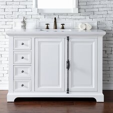 Providence 48 Single Cottage White Bathroom Vanity Set by James Martin Furniture