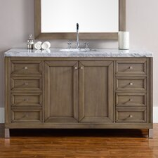 Chicago 60 Single White Washed Walnut Bathroom Vanity Set by James Martin Furniture