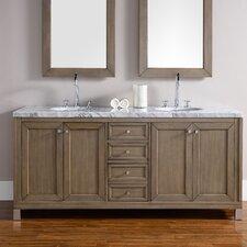Brittany 72 Double Burnished Mahogany Bathroom Vanity Set by James Martin Furniture