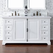 Providence 60 Double Cottage White Bathroom Vanity Set by James Martin Furniture