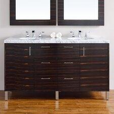 Metropolitan 60 Double Macassar Ebony Bathroom Vanity Set by James Martin Furniture