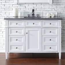 Brittany 48 Single Cottage White Bathroom Vanity Set by James Martin Furniture
