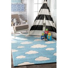 Lily Cloudy Sachiko Hand-Tufted Blue Area Rug