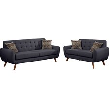 Bice Modern Retro Sofa and Loveseat Set