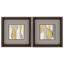 tranquil coalescence 2 piece framed painting print set