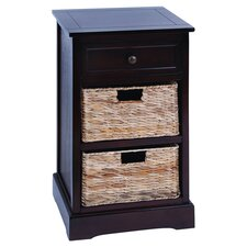 Flagler Cabinet with 2 Wicker Baskets by Breakwater Bay
