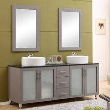 Fraher 72 Double Bathroom Vanity Set with Mirror by Brayden Studio