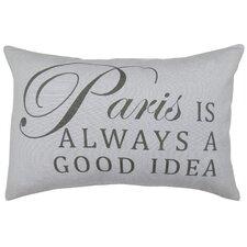 Vintage House Paris Idea Cotton Lumbar Pillow