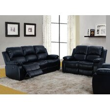 Maumee 2 Piece Bonded Leather Reclining Living Room Sofa Set  by Red Barrel Studio®