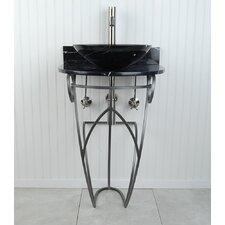 Victoria Sphere 22 Pedestal Bathroom Sink by D'Vontz