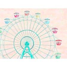 Confetti Sky by Karin Grow Paper Print