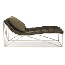 Metro Leather Chaise Lounge