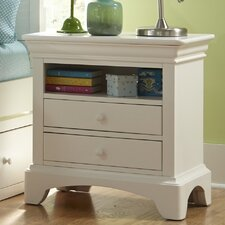 Neopolitan 2 Drawer Nightstand by My Home Furnishings