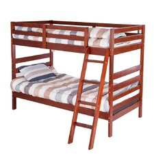 Twin Over Twin Bunk Bed with Ladders by Merax