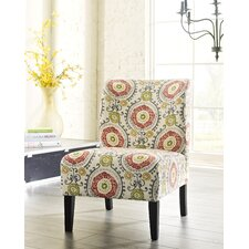 Alexandria Floral Slipper Chair by Bungalow Rose™