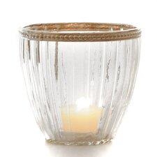 2-tlg. Windlicht-Set aus Glas