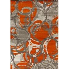 Clifford Machine Woven Orange Area Rug