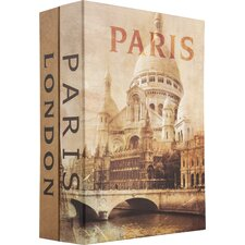 Paris and London Cash Box with Key Lock