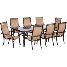 Monaco 9 Piece Dining Set by Hanover