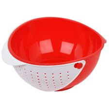 Plastic Mixing Bowl with Strainer