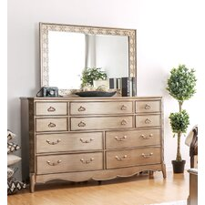 Gisella 10 Drawer Dresser with Mirror