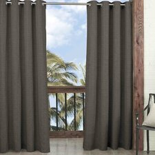 Key Largo Solid Blackout Thermal Outdoor Grommet Single Curtain Panel