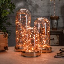 Lighted Clear Glass Cloche