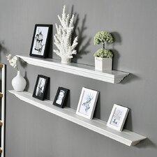 Corona Crown Molding 2 Piece Floating Shelf Set by Welland LLC