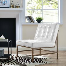 Keri White Patent Leather Slipper Chair by Wade Logan
