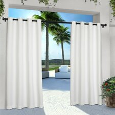 Denton Solid Semi-Sheer Grommet Curtain Panels (Set of 2)