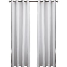 Molly Solid Semi-Sheer Grommet Curtain Panels (Set of 2)