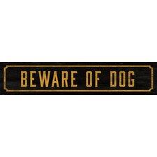 Beware of Dog Street Sign Wall Décor