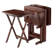 Alice 5 Piece TV Table Set by Andover Mills