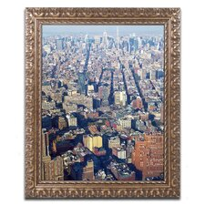 Lower Manhattan' by CATeyes Framed Photographic Print  by Trademark Fine Art