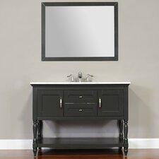 Hampton 48 Single Contemporary Bathroom Vanity Set with Mirror by Alya Bath