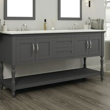 Hampton 72 Double Contemporary Bathroom Vanity Set by Alya Bath