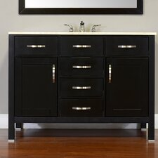 Hudson 48 Single Contemporary Bathroom Vanity Set by Alya Bath
