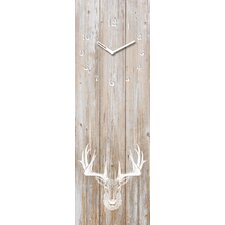 Analoge Wanduhr Time Art Deer