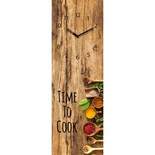 Analoge Wanduhr Time Art Time to Cook