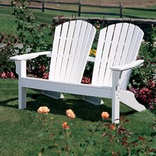 Adirondack Shell Back Garden Bench by Seaside Casual