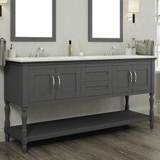 Hampton 60 Double Contemporary Bathroom Vanity Set by Alya Bath